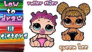 скачать Lil Sisters How To Draw Queen Bee And Roller Sk8er Learn