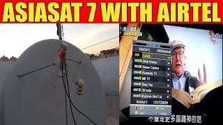 Asiasat 7 With Airtel Dish Setting & Channels List