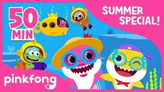 baby shark dance and more summer song compilation kids songs pinkfong songs for children