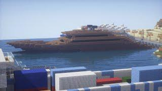 Minecraft How To Build A Cool Looking Mega Yacht Speedbuild
