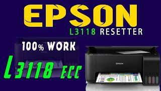 Reset Epson L3118 , Epson L3118 Adjustment Program 100%