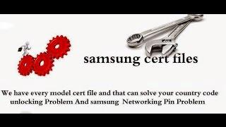 Samsung All Certificate files Free Download