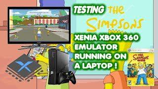 Testing The Simpsons Game on Xenia Xbox 360 Emulator , Running on a LAPTOP!!