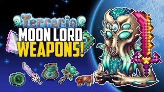 Terraria 1 3 MOON LORD WEAPONS | Best Weapon Drops | PC | Console | Mobile  | Top 5