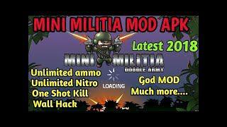 скачать Doodle Army 2 Mini Militia Mod Menu 411 Unlimited Ammo
