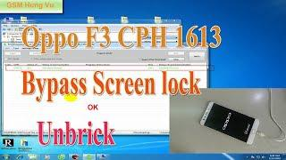 Flashing Oppo F3 Plus CPH1613 to Unbrick/Bypass Screen lock by  MsmDownloadTool