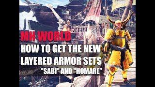 MONSTER HUNTER WORLD - HOW TO GET THE NEW LAYERED ARMOR SETS BUSHI