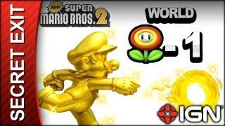 New Super Mario Bros  2 - Secret Exit Guide - World Flower-1 - Walkthrough