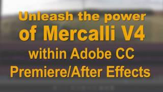 Mercalli V4 Adobe CC Plug-In for Premiere & After Effects 2017