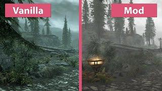 Skyrim Special Edition – 4K UHD Visual Mod Overhaul vs  Vanilla Graphics  Comparison