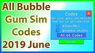 All Codes for Bubble Gum Simulator *66 CODES!!!!* | 2019 June